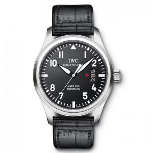This replica IWC watch perfectly deduced the essence of the traditional pilot watches.