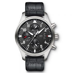With the firm and light high-tech ceramic material, this black replica IWC watch completely shows the masculine feeling.