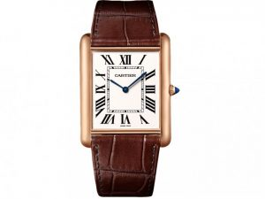 For the combination of rose gold and brown, the whole fake Cartier watch also gives people a vintage feeling.