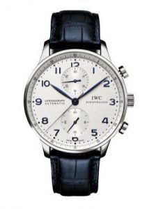 For the decoration of charming blue color, this replica IWC watch shows a unique elegance.