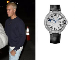 This luxury fake watch is in platinum materials.