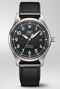 IWC fake watches with black dials are suitable for businessmen.