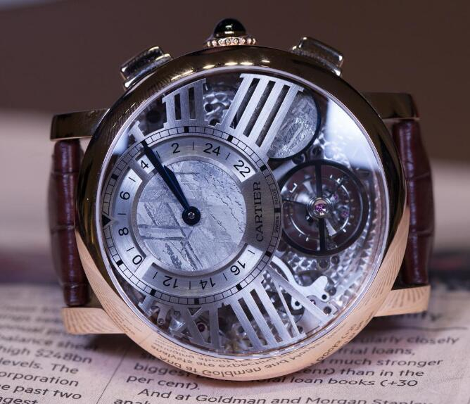 The timepiece has been equipped with multiple complicated functions.