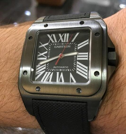 The all-black design of this Cartier is very cool.