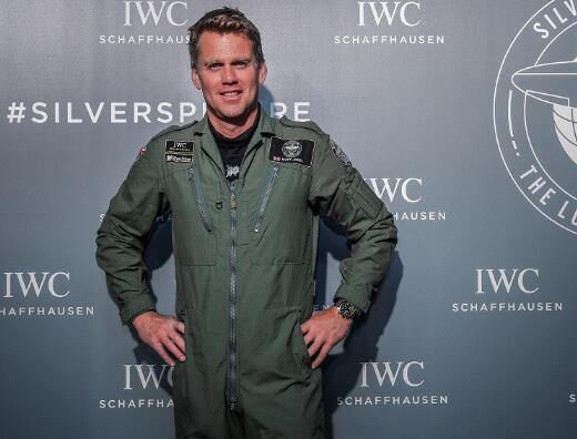 Matt Jones wore the strong IWC to attend the activity.